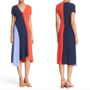 TORY BURCH WALDEN COLOR BLOCK DRESS SIZE XS
